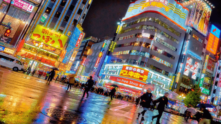 nikkei index 225 tokyo streets