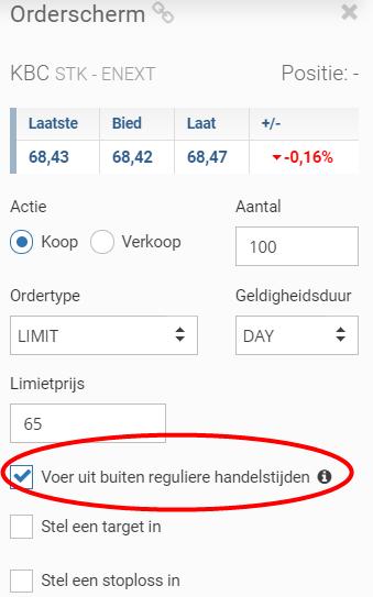 LYNX Basic buiten reguliere handelstijden