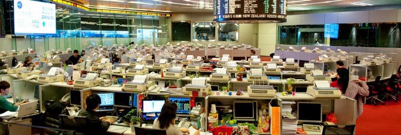Hong Kong Stock Exchange wereldwijde markten beurs