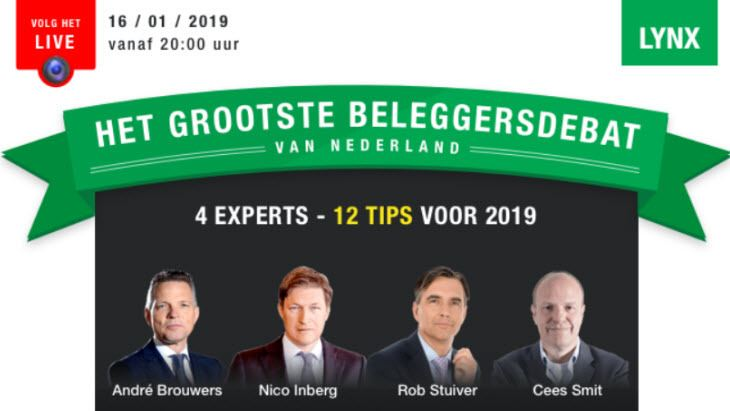 LYNX Beleggersdebat 2019 de experts