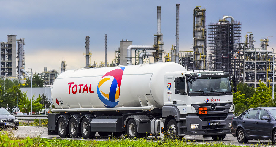 Aandeel Total olie wagen