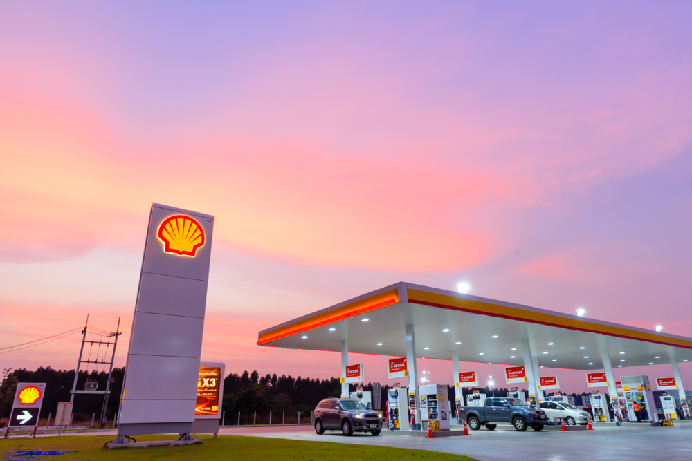 Aandeel Shell - Tankstation van Royal Dutch Shell