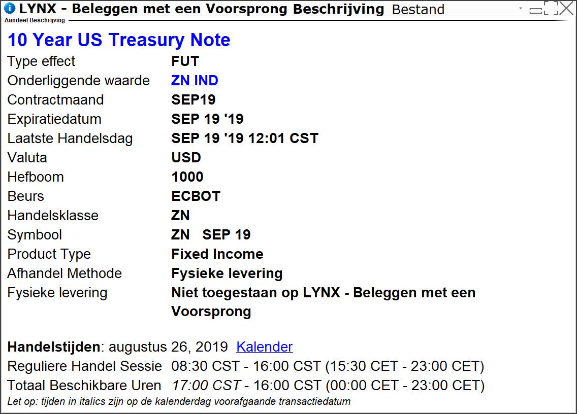 10 Year US Treasury Note - Beleggen in obligaties