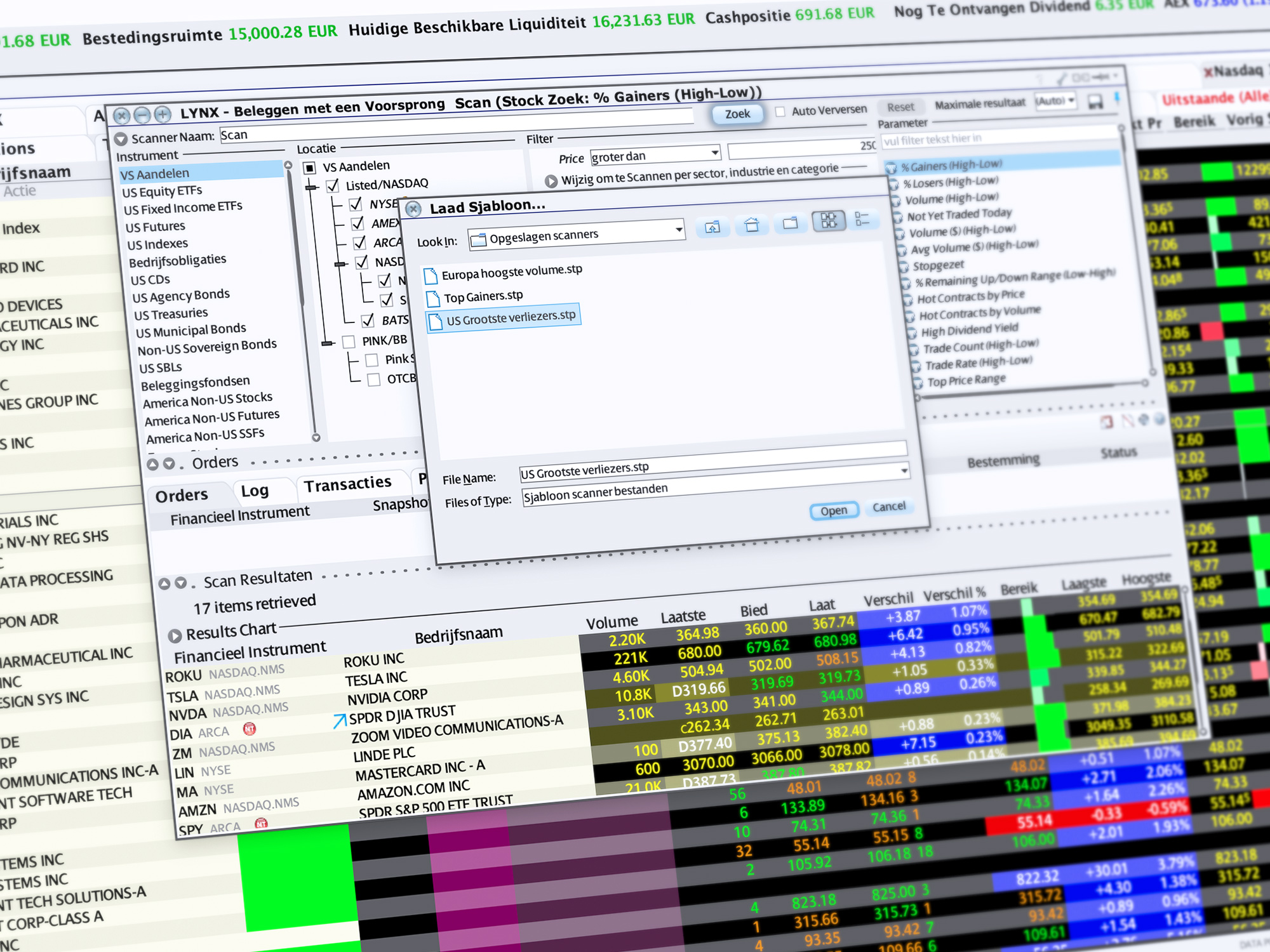 Markt Scanner - eenvoudig zoekopdrachten aanpassen