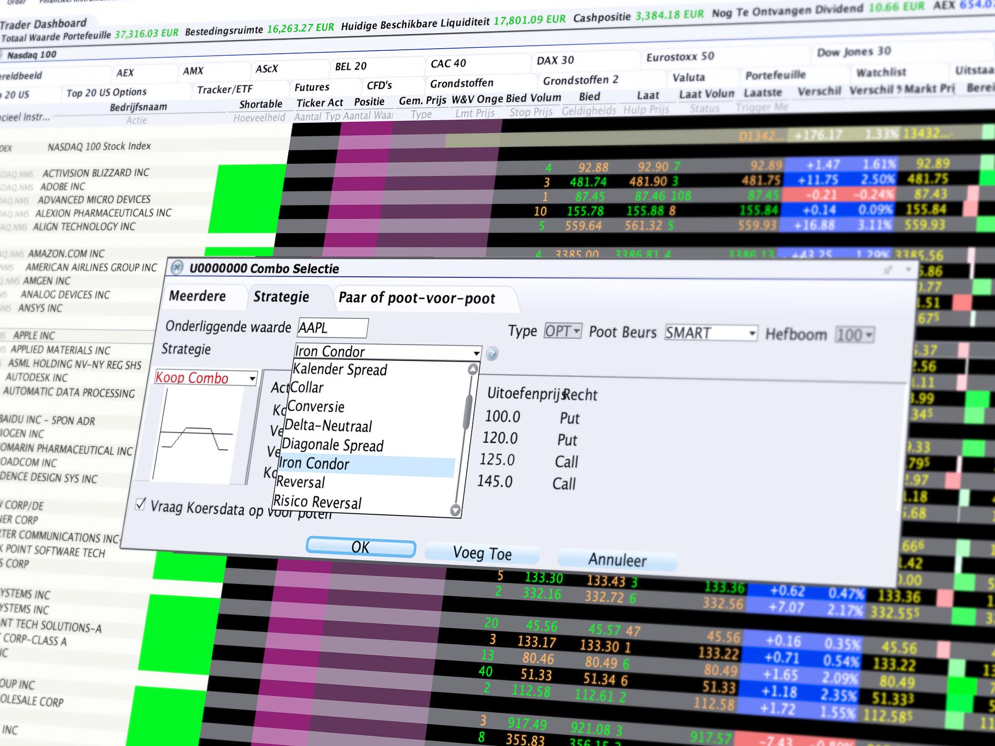 Combo Trader: Sneller en gemakkelijker optiecombinatie aanmaken