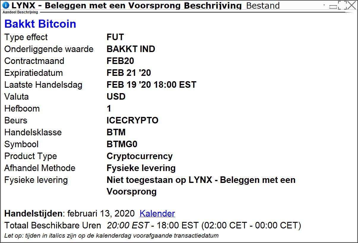 Bakkt Future - Beleggen in Bitcoin