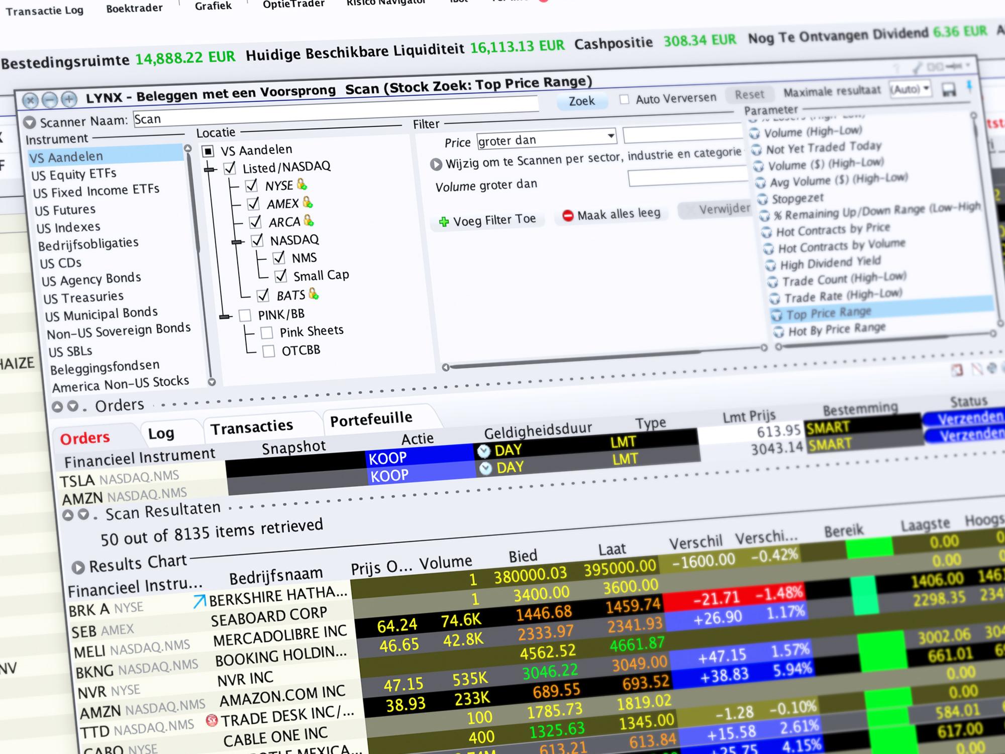 Meer Trading tools - Markt Scanner