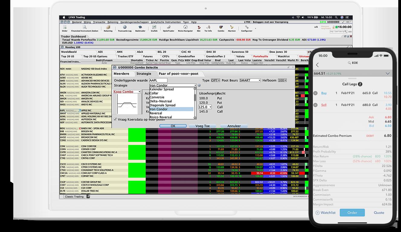 ComboTrader: Optiecombinaties verzenden met 1 klik