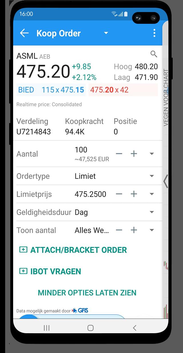 Mobile trading met de Android Trading App van LYNX